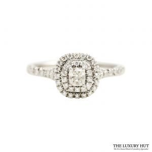 Tiffany Platinum & Diamond Soleste Double Row Ring Order Online today for next day delivery