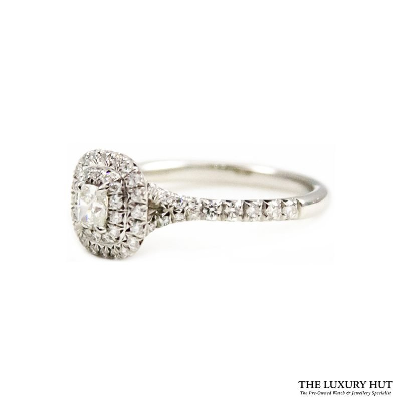Tiffany Platinum & Diamond Soleste Double Row Ring Order Online today for next day