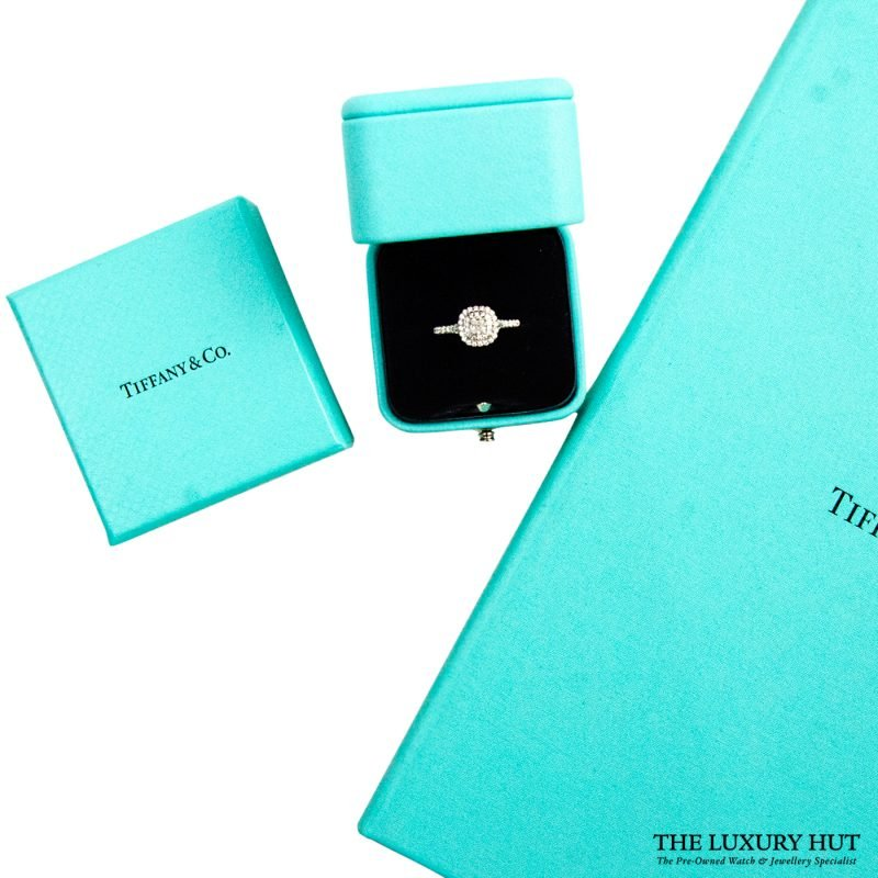 Tiffany Platinum & Diamond Soleste Double Row Ring Order Online today delivery