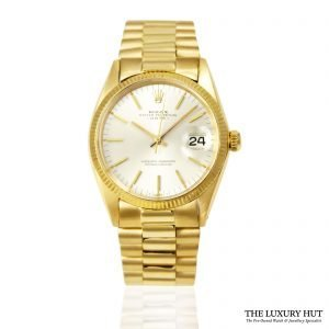 Rolex 18ct Gold Date Silver Dial Watch 1503