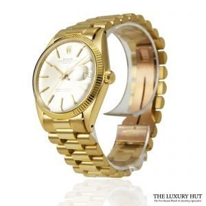 Rolex 18ct Gold Date Silver Dial Watch - Order online today for next day
