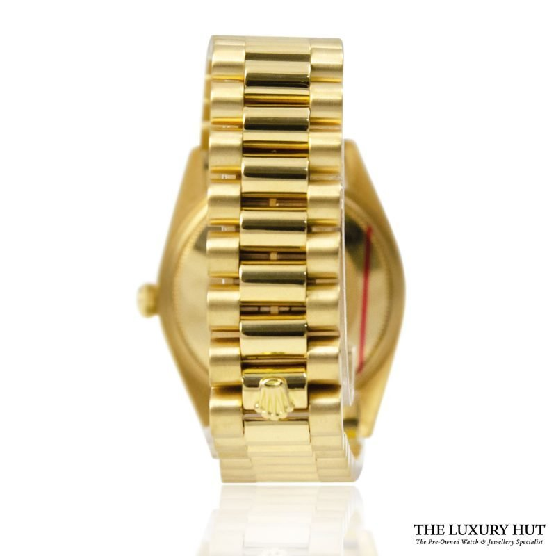 Rolex 18ct Gold Date Silver Dial Watch - Order online today for