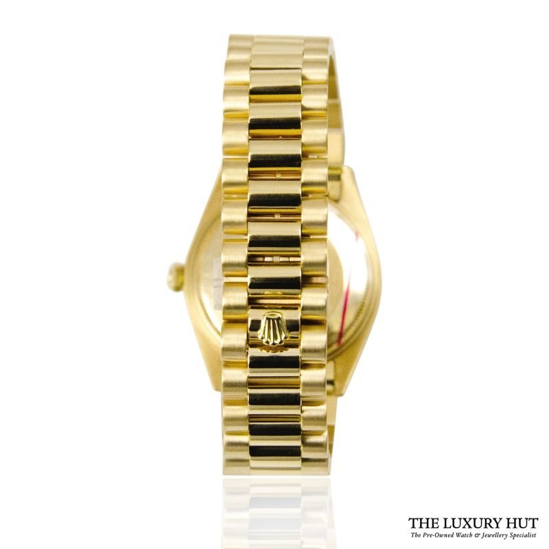 Rolex 18ct Gold Date Silver Dial Watch - Order online