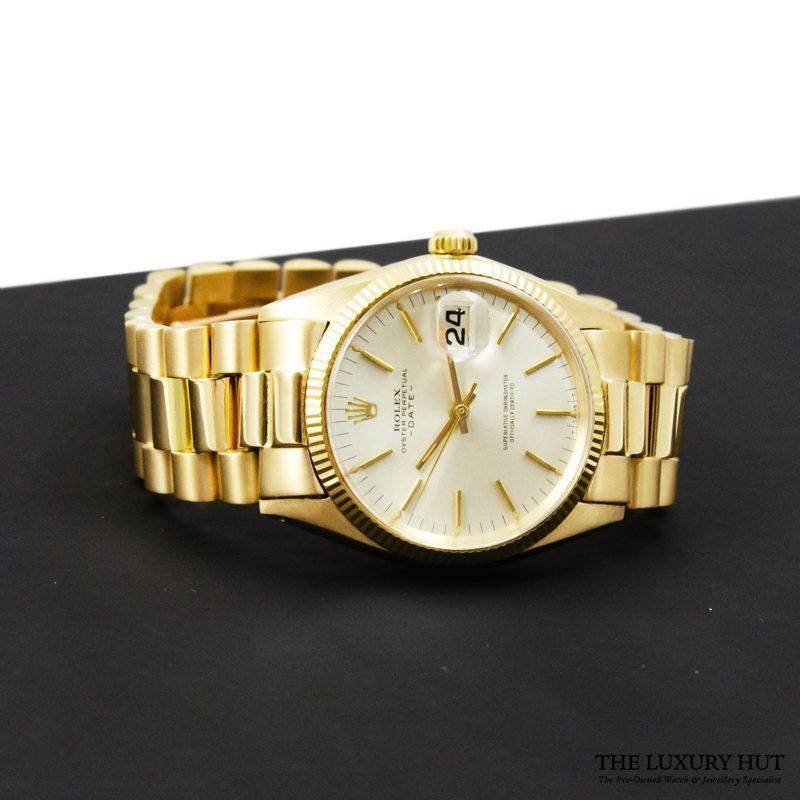 Rolex 18ct Gold Date Silver Dial Watch