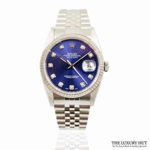 Rolex Oyster Perpetual DateJust Blue Dial Watch Ref 16234 Order Online today for next day delivery.