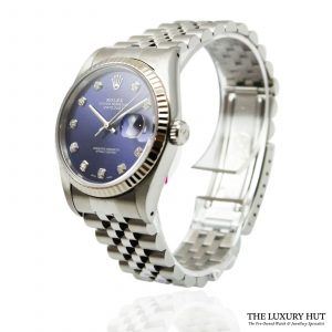 Rolex Oyster Perpetual DateJust Blue Dial Watch Ref 16234 Order Online today for next day
