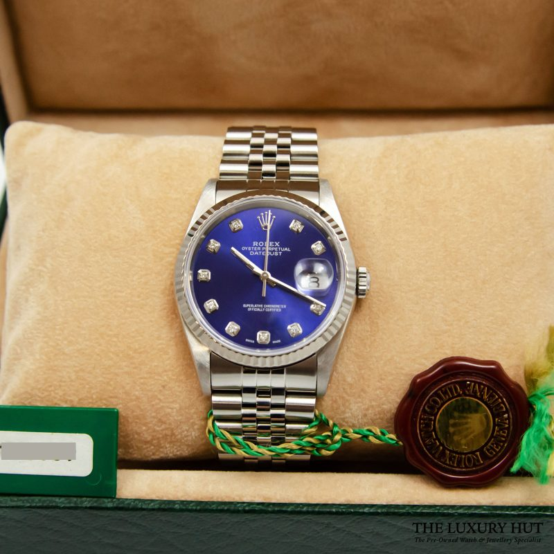 Rolex Oyster Perpetual DateJust Blue Dial Watch Ref 16234 Order Online delivery.
