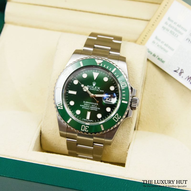 Rolex 2014 Submariner Hulk Oyster Date Ref 116610LV Watch - Order delivery.
