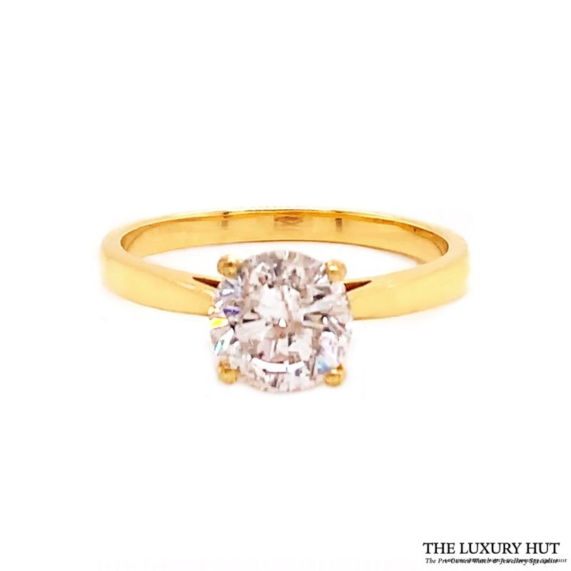 Shop 18ct Yellow Gold 1.40ct Certified Diamond Solitaire Ring - Order Online Today For Next Day Delivery