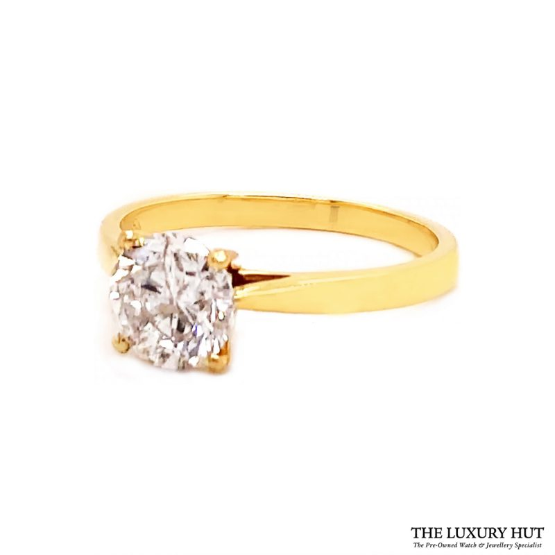Shop 18ct Yellow Gold 1.40ct Certified Diamond Solitaire Ring - Order Online Today For Next Day