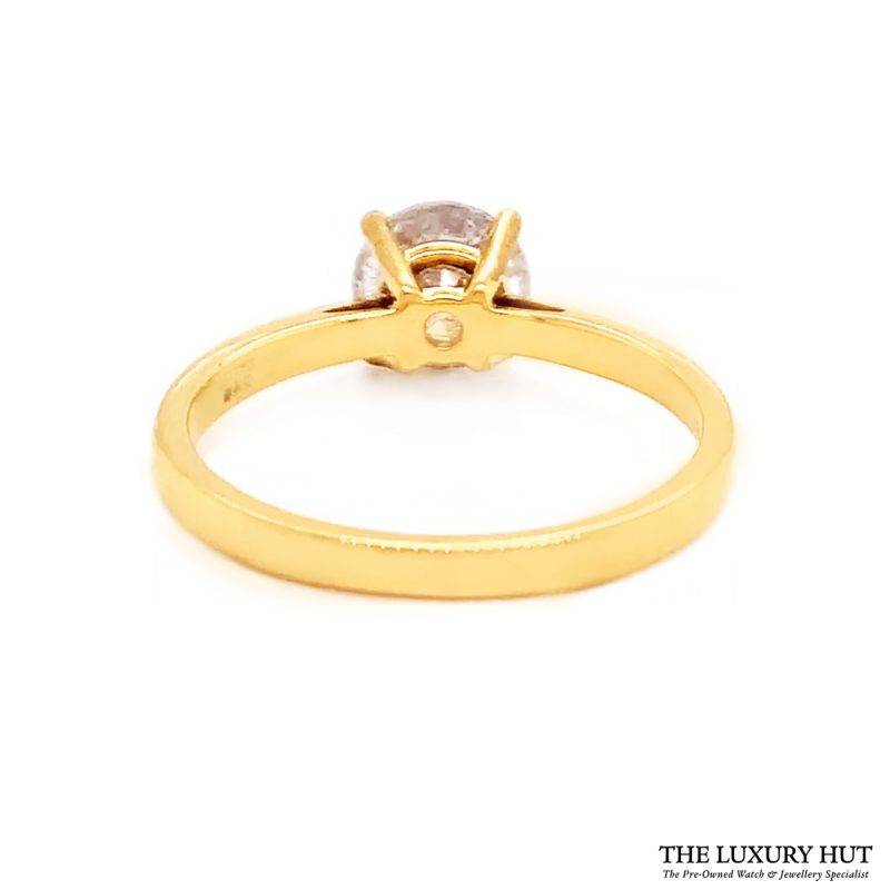 Shop 18ct Yellow Gold 1.40ct Certified Diamond Solitaire Ring - Order Online
