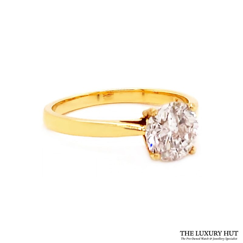 Shop 18ct Yellow Gold 1.40ct Certified Diamond Solitaire Ring - Order