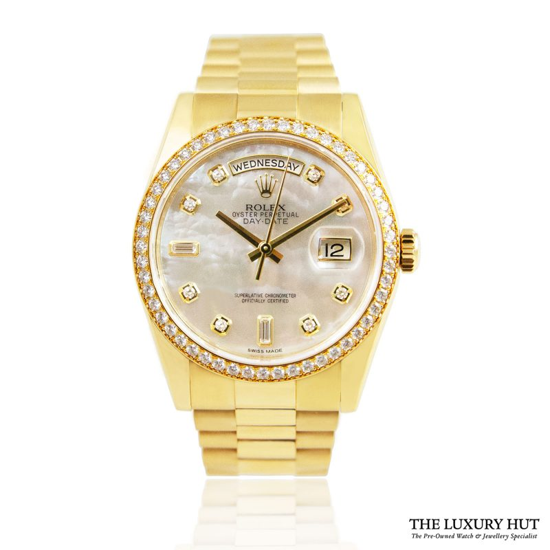 Rolex 18ct Gold Day-Date Diamond Dial Ref: 118348 Order Online Today For Next Day Delivery