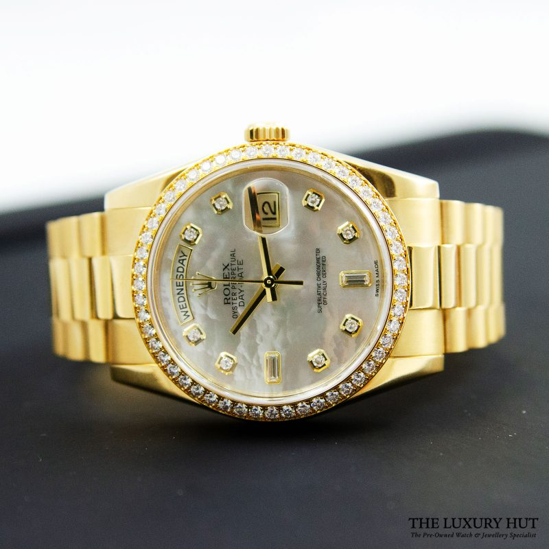 Buy Rolex 18ct Gold Day-Date Diamond Dial Ref: 118348