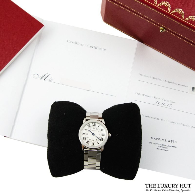 Cartier Ronde Solo Ladies Watch Ref: 3601 - 2018 - Order Online today delivery