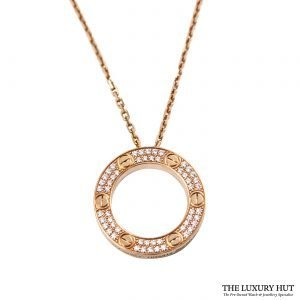 Shop Cartier 18ct Rose Gold & Diamond Necklace - Order Online Today For Next Day Delivery