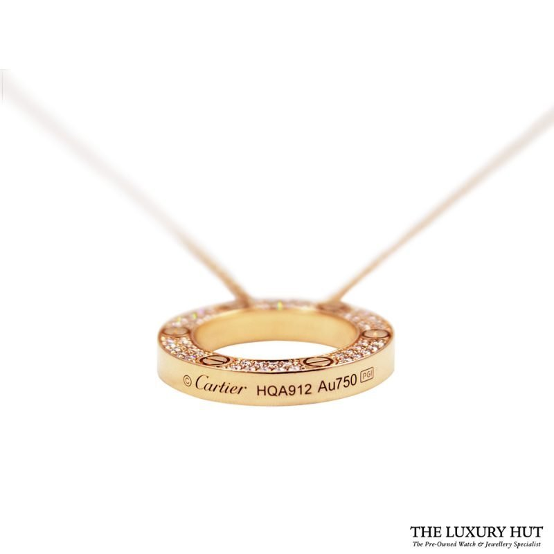 Shop Cartier 18ct Rose Gold & Diamond Necklace - Order Online Today For Next Day