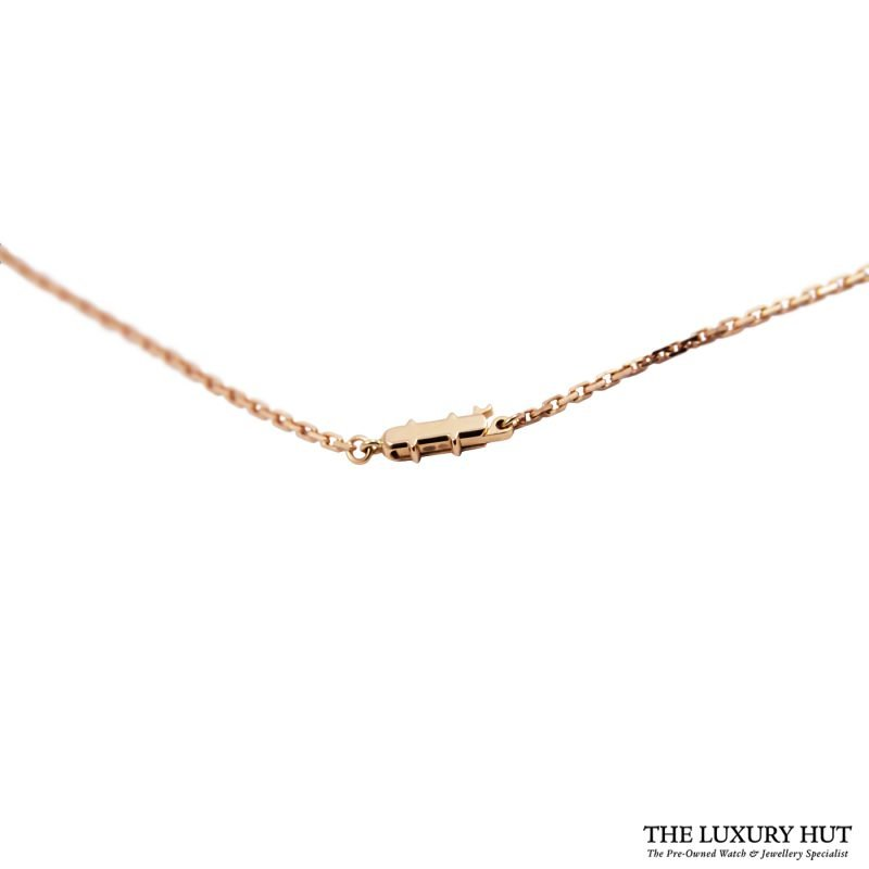 Shop Cartier 18ct Rose Gold & Diamond Necklace - Order Online Today Delivery