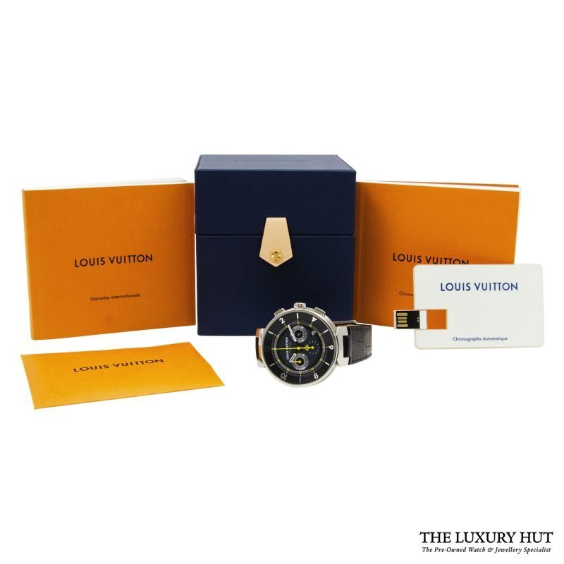Shop Louis Vuitton Tambour Moon Chronograph Q8D40Z Watch - Order Online Today For Next Day Delivery