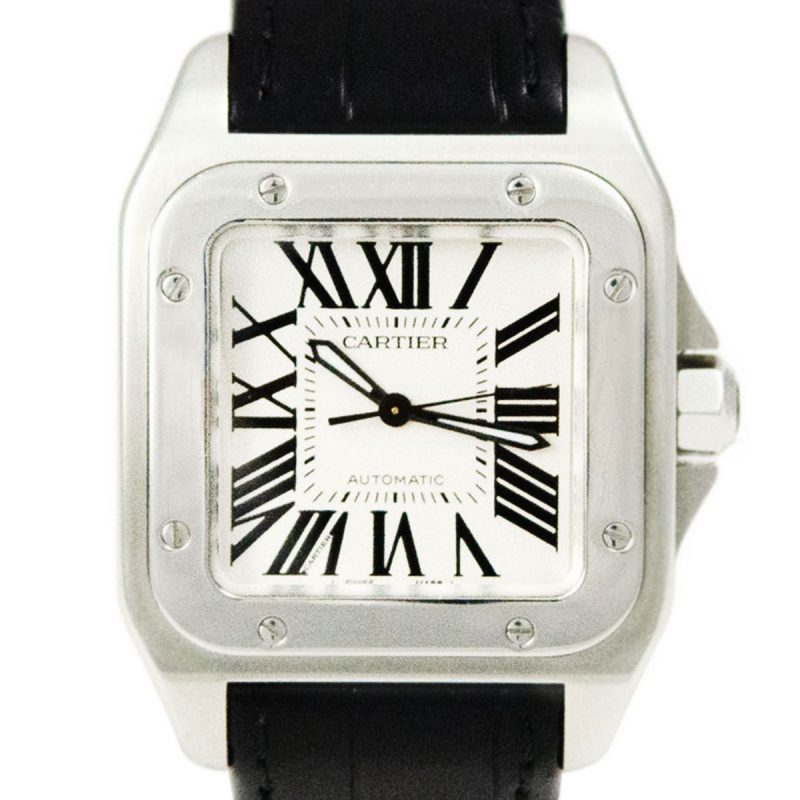 Shop Cartier Santos 100 Automatic Watch Ref: 2878 - 2014 - Order Online Today For Next Day Delivery