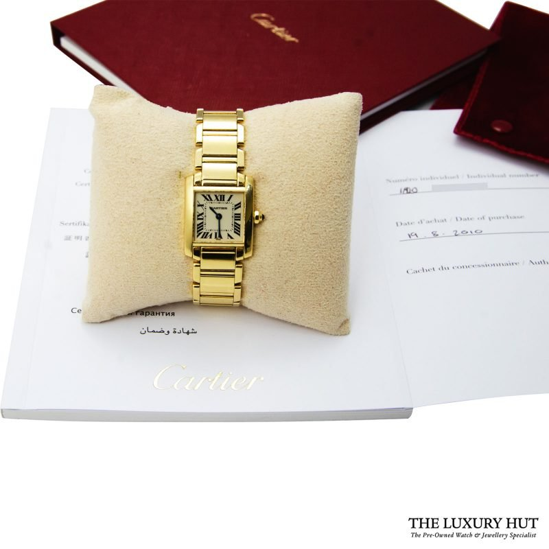 Shop Cartier Tank Francaise Ladies Watch Ref: 1820 - Order Delivery.