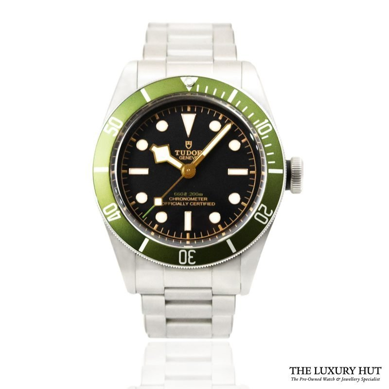 Shop Tudor Black Bay Green Harrods Watch Ref: 79230G - Order Online Today For Next Day Delivery.