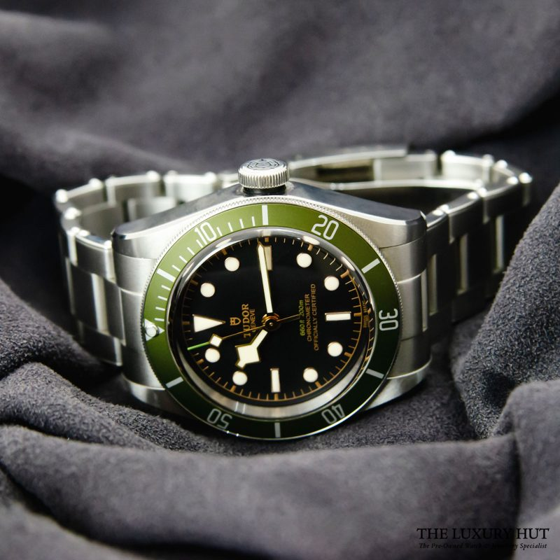 Shop Tudor Black Bay Green Harrods Watch Ref: 79230G