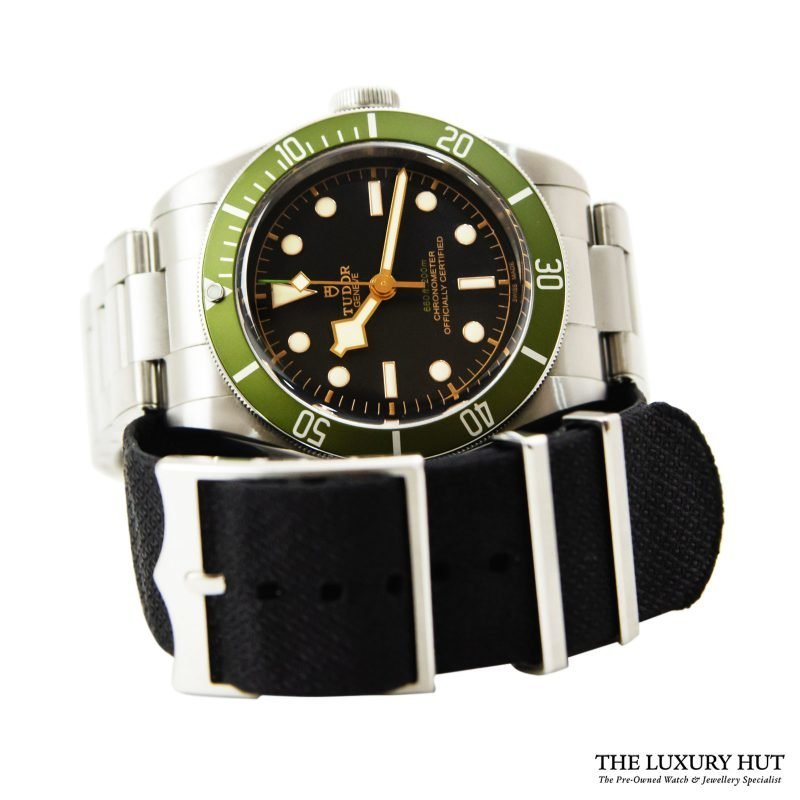 Shop Tudor Black Bay Green Harrods Watch Ref: 79230G - Online Today.