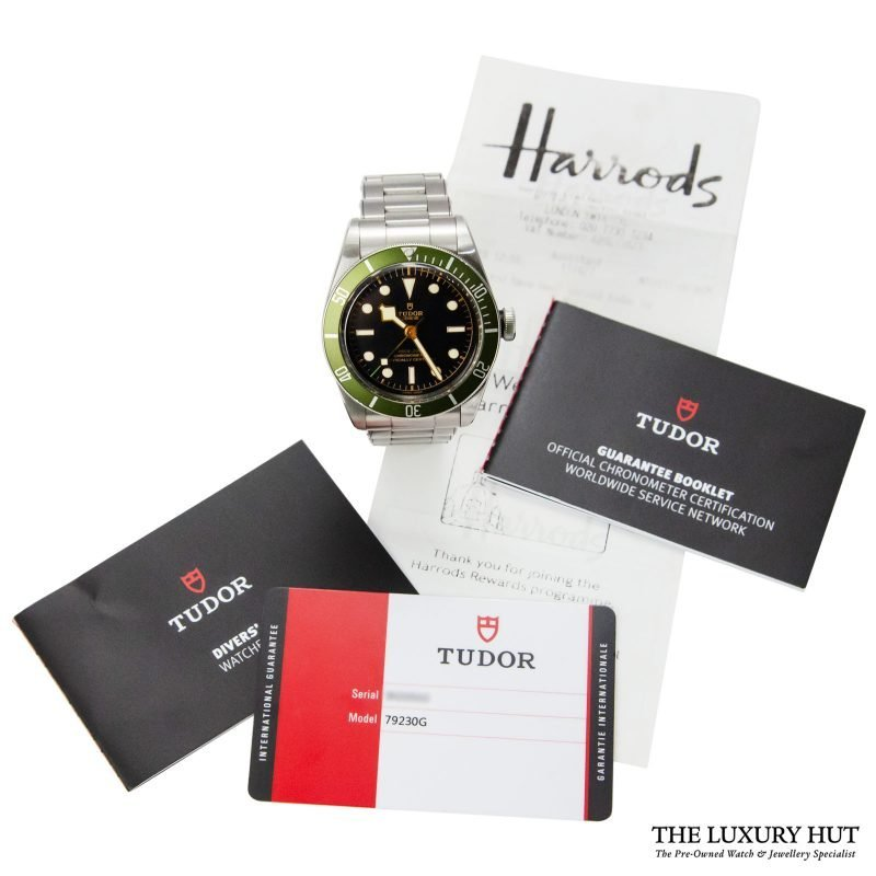 Shop Tudor Black Bay Green Harrods Watch Ref: 79230G - Online