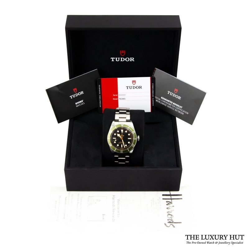 Shop Tudor Black Bay Green Harrods Watch Ref: 79230G - Order Delivery.