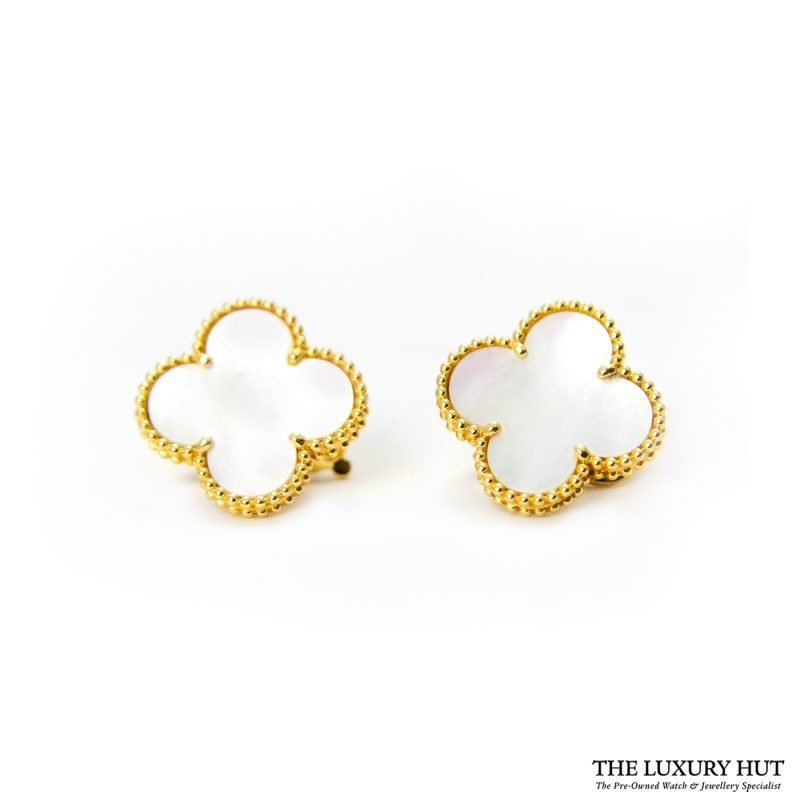 Shop 18ct Yellow Gold Van Cleef & Arpels Earrings - Order Online Today For Next Day Delivery
