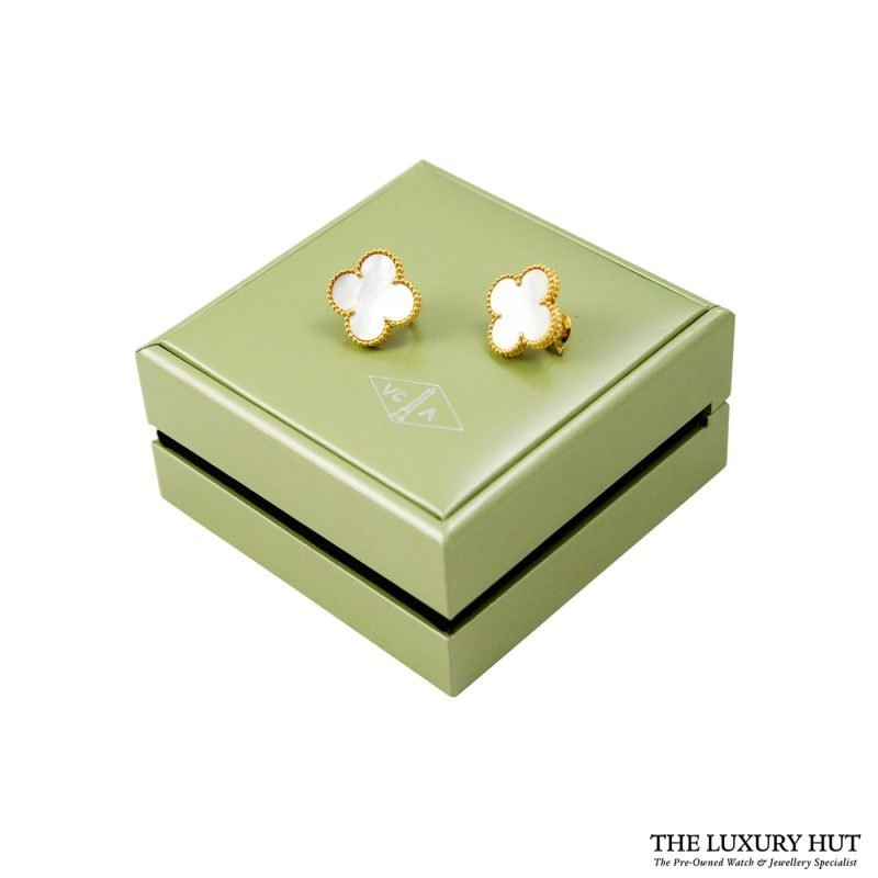 Shop 18ct Yellow Gold Van Cleef & Arpels Earrings - Order Online Today Delivery