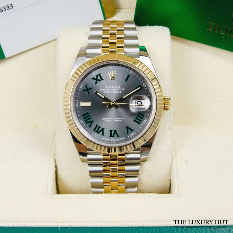 Shop Rare Rolex Datejust 41 Bi-Metal Watch Ref: 126333 - Order Online Delivery.