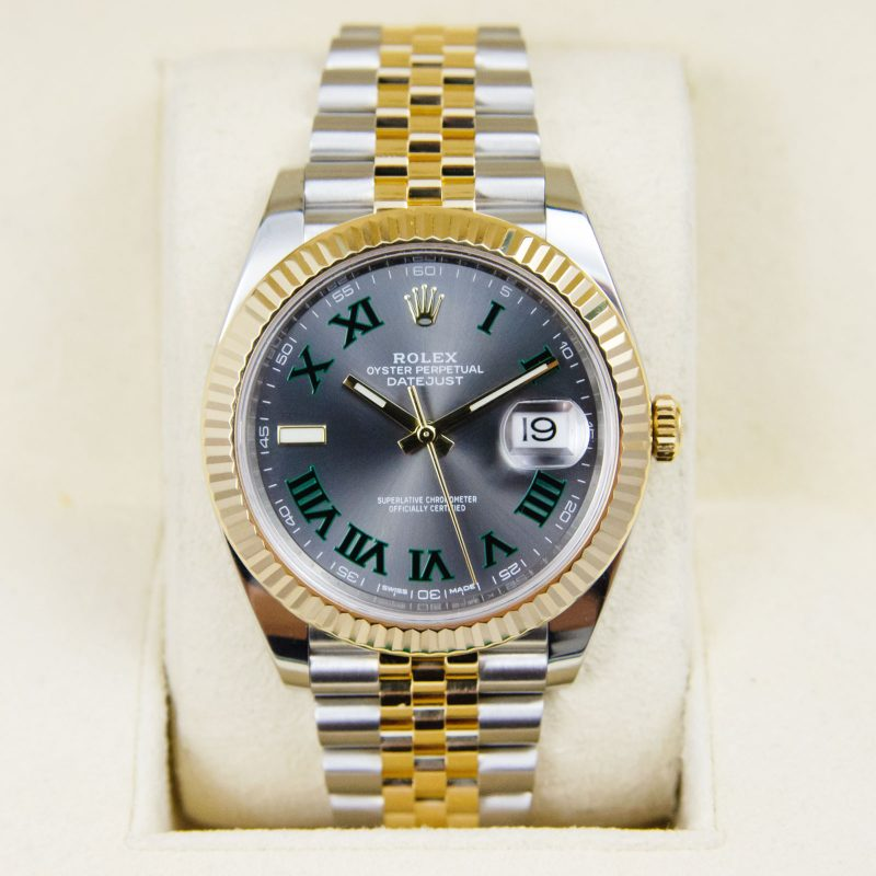 Shop Rare Rolex Datejust 41 Bi-Metal Watch Ref: 126333 - Order Delivery.