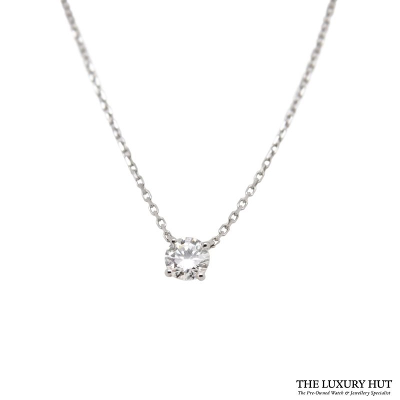 Shop Cartier 18ct White Gold & Diamond Necklace - Order Online Today