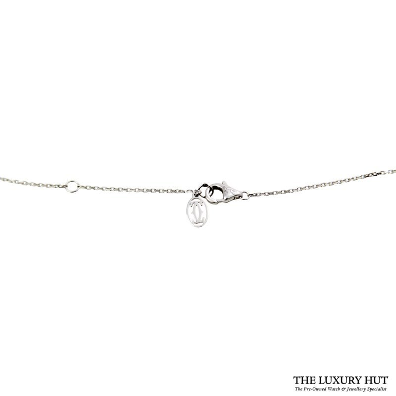 Shop Cartier 18ct White Gold & Diamond Necklace - Order Online