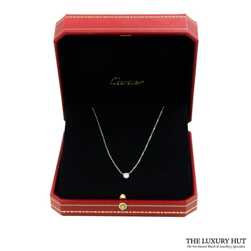 Shop Cartier 18ct White Gold & Diamond Necklace - Order