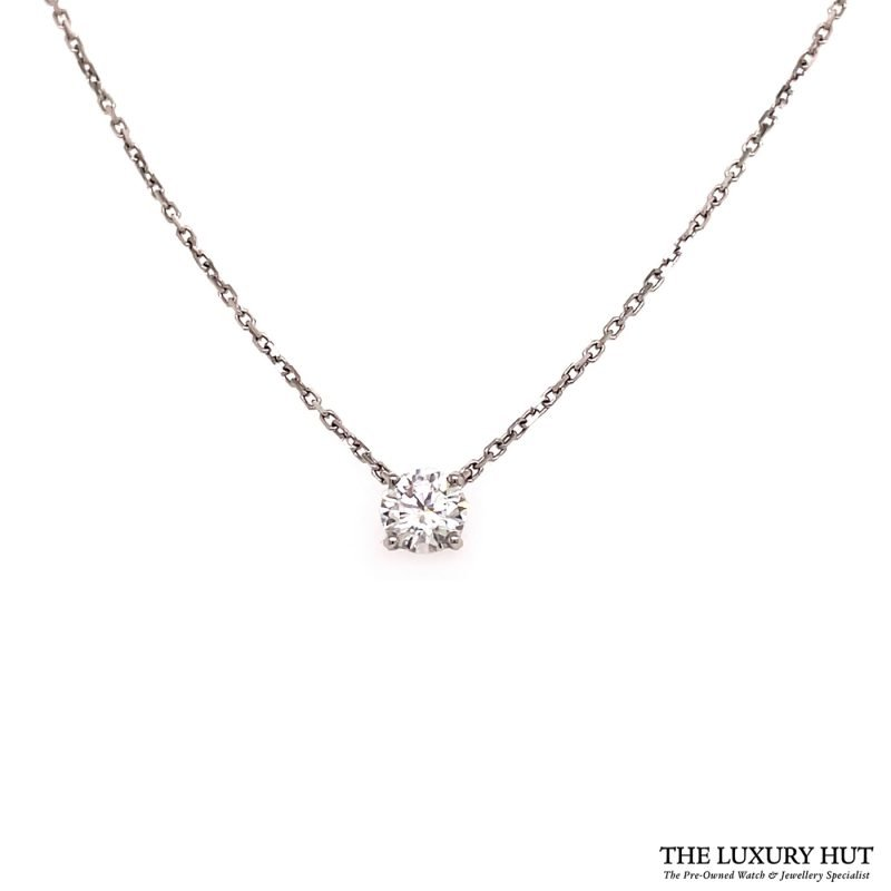 Shop Cartier 18ct White Gold & Diamond Necklace - Order Online Today Delivery.