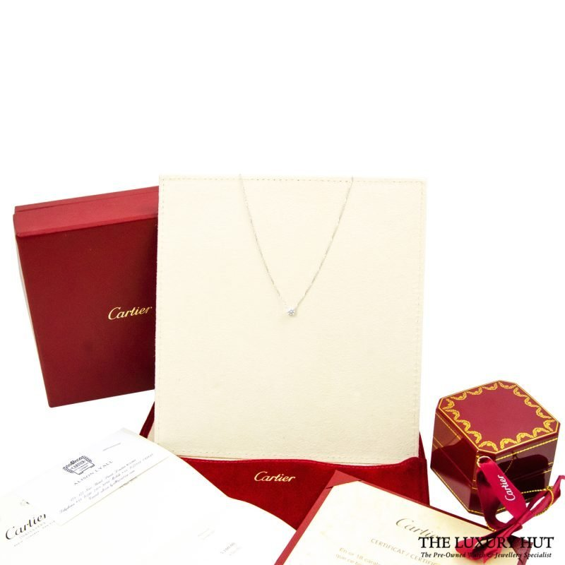 Shop Cartier 18ct White Gold & Diamond Necklace