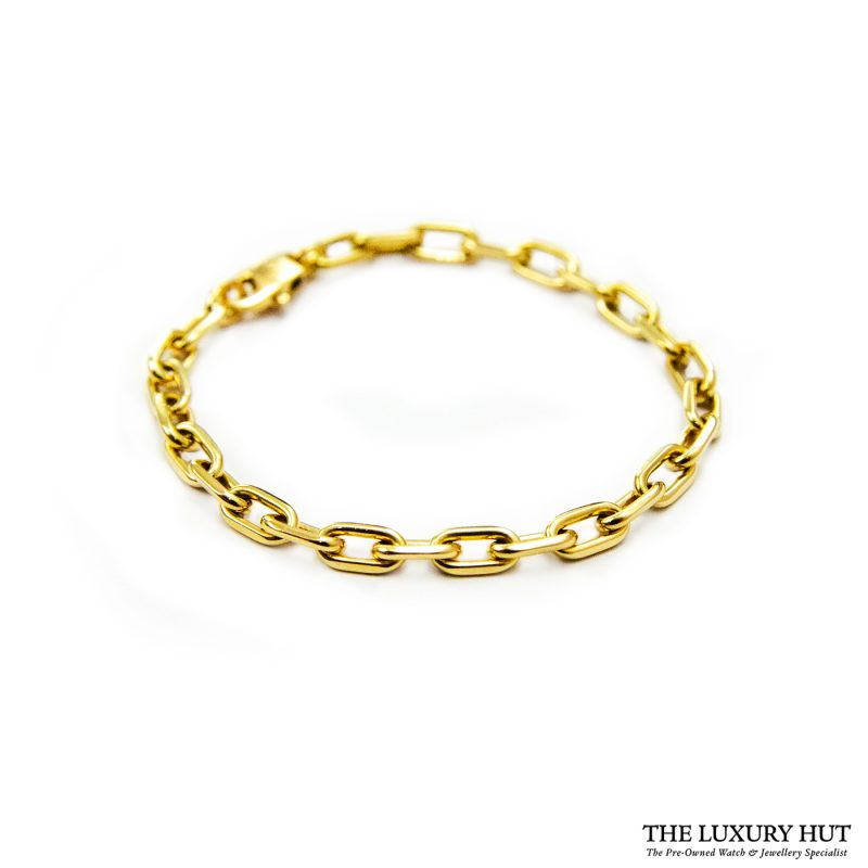 Shop Cartier 'Santos de Cartier' 18ct Gold Chain Bracelet order online today for next day