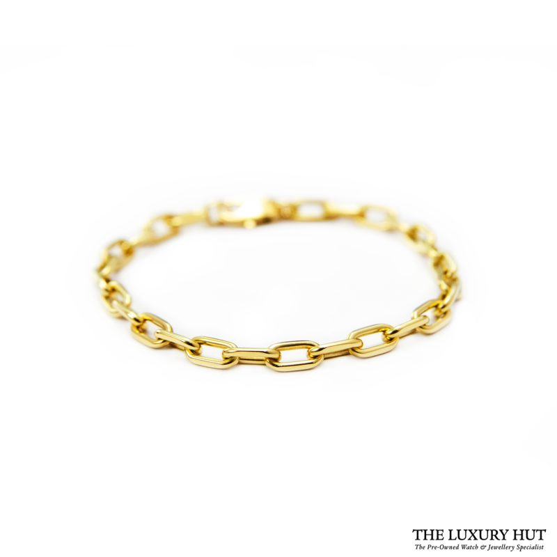 Shop Cartier 'Santos de Cartier' 18ct Gold Chain Bracelet