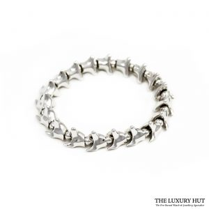 Shop Shaun Leane 18ct White Gold Vermeil Serpents Trace Wide Bracelet - Order Online Today For Next Day Delivery