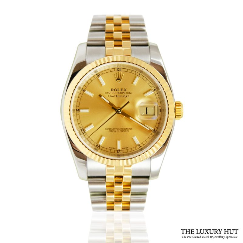 Rolex Datejust 36mm Bi-Metal Watch Ref: 116233 - order online today for next day delivery.