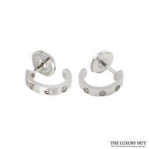 Shop Cartier 18ct White Gold Love Earrings order online today for next day delivery