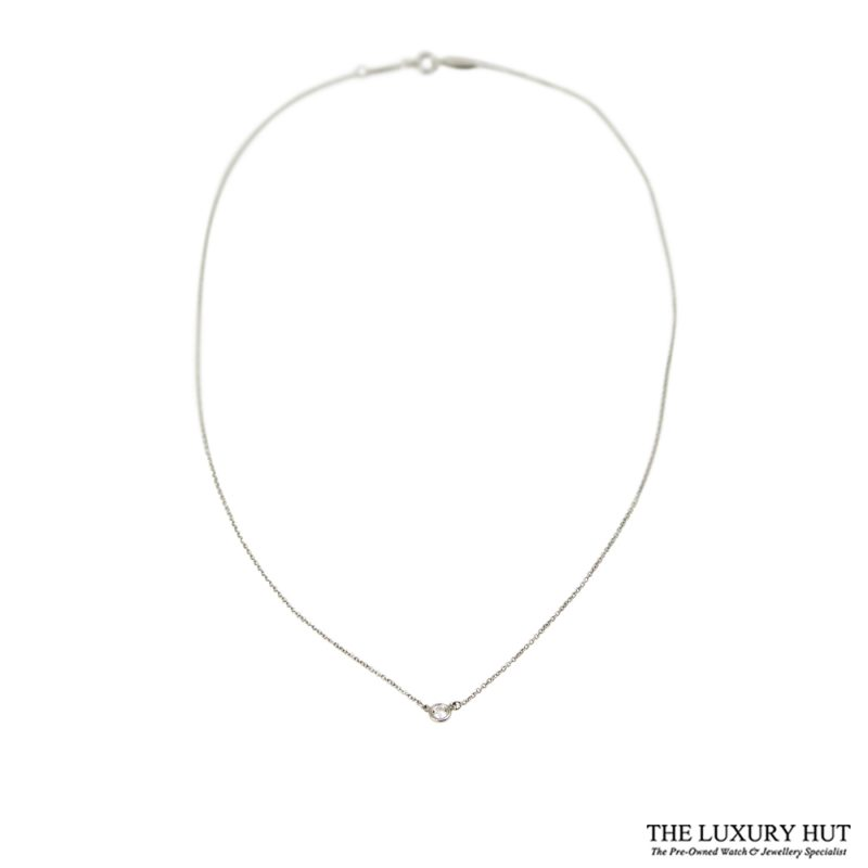 Shop Tiffany & Co. Platinum 0.17ct Diamond Pendant order online today delivery.