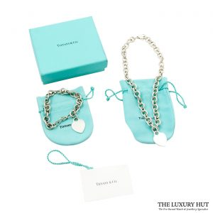 Shop Vintage Tiffany & Co. Plain Heart Link Necklace order online today for next day