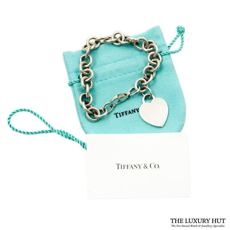 Shop Vintage Tiffany & Co. Plain Heart Link Necklace order online today
