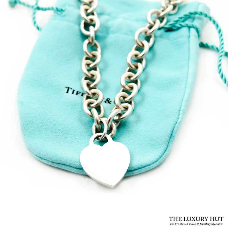 Shop Vintage Tiffany & Co. Plain Heart Link Necklace