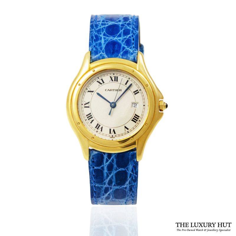 Cartier Gold Cougar Quartz Watch Ref: 887920 - order online today for next day delivery.