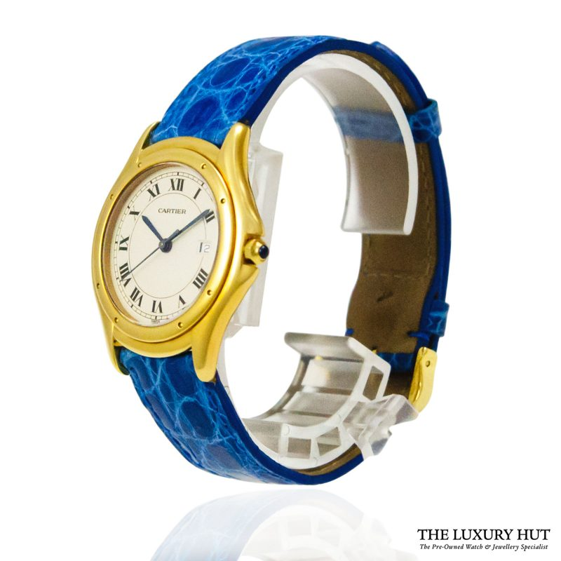 Cartier Gold Cougar Quartz Watch Ref: 887920 - order online today for next day delivery